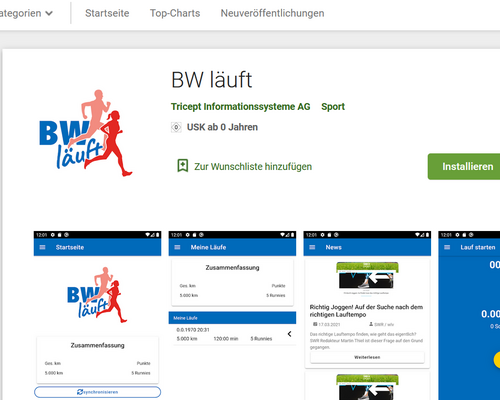 Testversion der App verfügbar